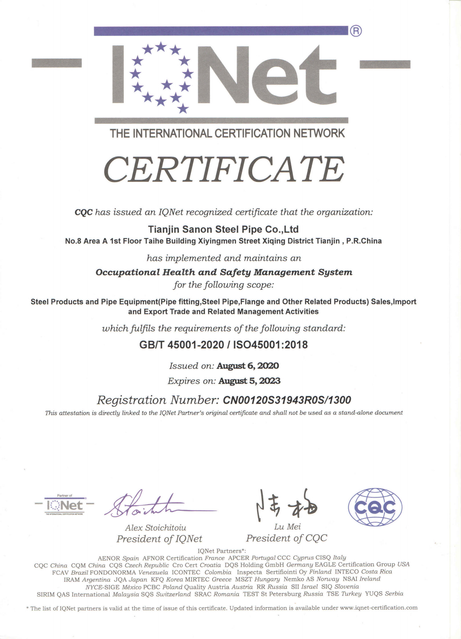 IQNet ISO45001_00